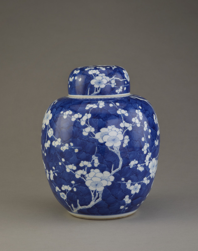 """Ginger jar"" with cover, one of a pair with F1995.3.2 a-b"