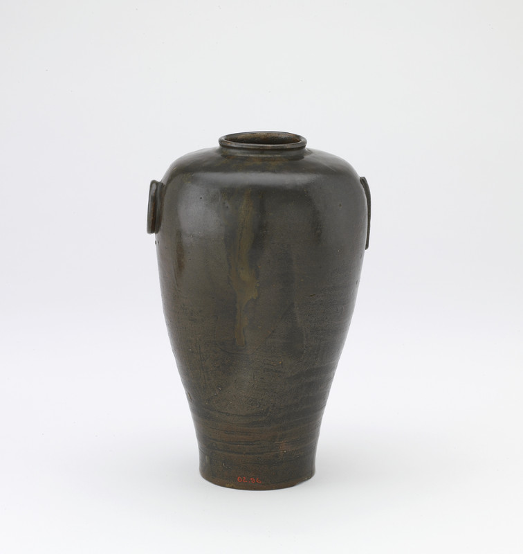 Vase with crescent-moon and sun-shaped lugs