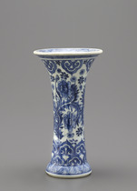 Beaker vase, one of a five-piece garniture