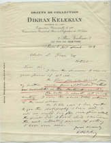 Dikran G. Kelekian to Charles Lang Freer, March 31, 1908