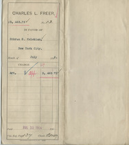 Voucher from Charles Lang Freer to Dikran G. Kelekian, July 13, 1906