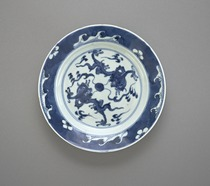 Dish with dragon design, one of a pair with F1992.6