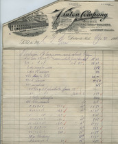Invoice from Vinton Company, April 20, 1906