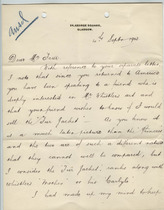 William Burrell to Charles Lang Freer, September 4, 1903