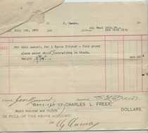 Charles Lang Freer to Camas Voucher, June 6, 1906