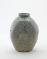 Jar with flattened sides