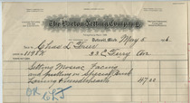 Barton Netting Company invoice, May 5, 1906