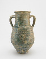 Jar (amphora) with two handles and an uneven foot