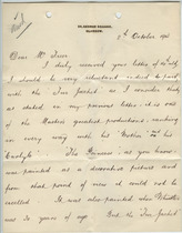 William Burrell to Charles Lang Freer, October 8, 1903
