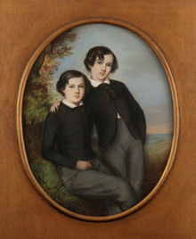 Portrait of Whistler and brother