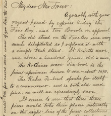 R.E. Moore to Charles Lang Freer, June 8, 1897